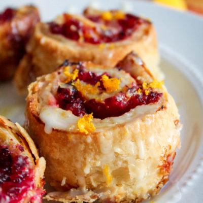 Easy Cranberry Orange Breakfast Rolls