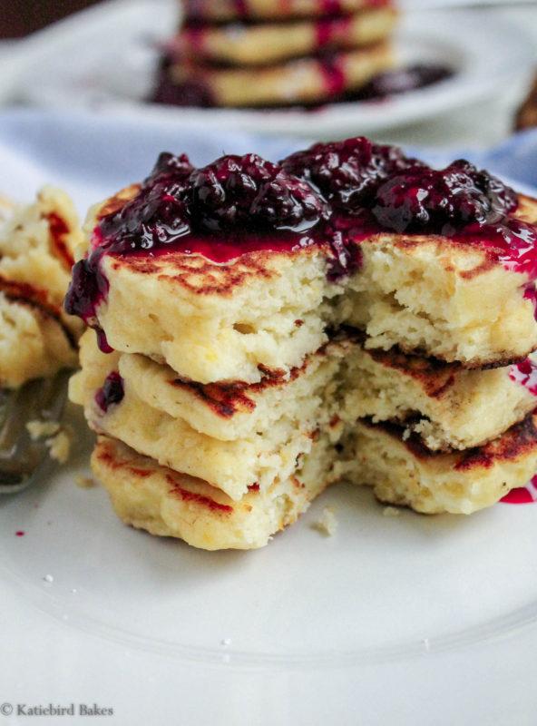 20170103-IMG_9294 lemon ricotta pancakes blackberry sauce 1 katiebirdbakes.com