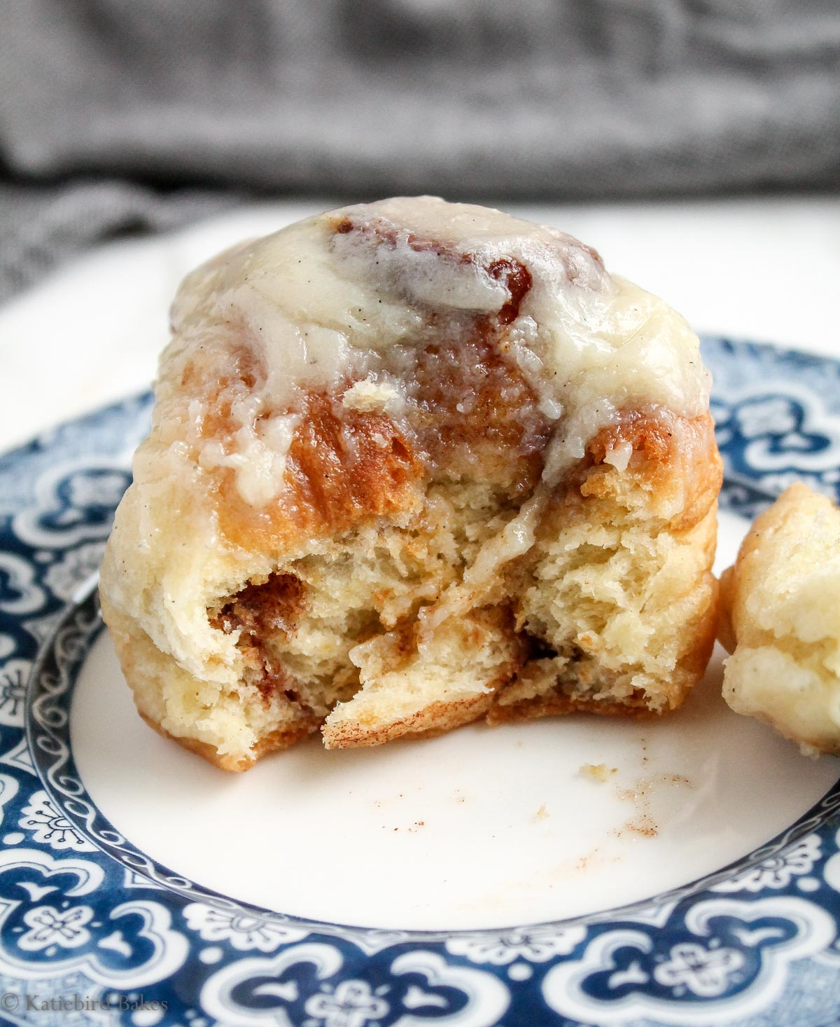 Cinnamon Rolls with Cream Cheese Icing - katiebirdbakes.com