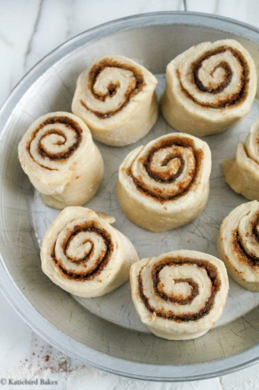 Cinnamon Rolls with Cream Cheese Icing - katiebirdbakes.com