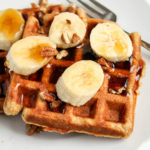 Whole Wheat Banana Waffles katiebirdbakes.com