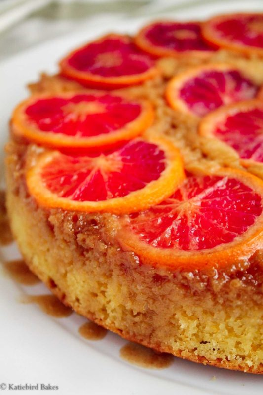 Blood Orange Upside-Down Cake - katiebirdbakes.com