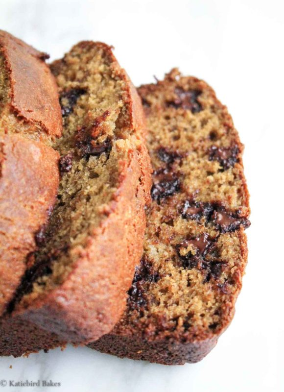 Chocolate Chip Banana Bread - katiebirdbakes.com