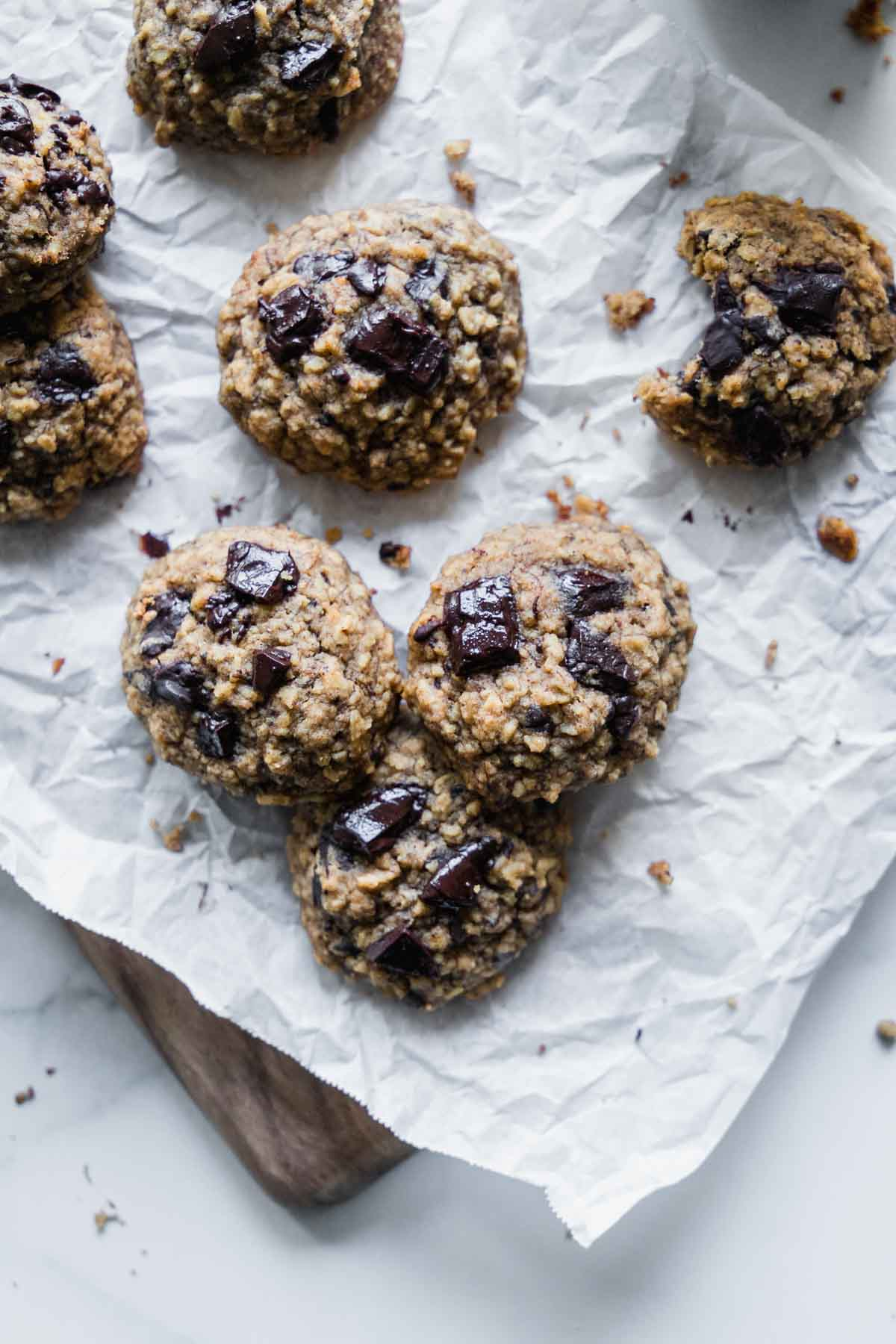 Banana Oatmeal Breakfast Cookies | katiebirdbakes - wholesome gluten-free, vegan, naturally sweetened yet delicious.