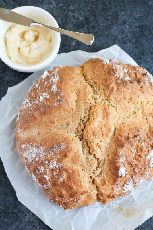 Irish Soda Bread with Honey Butter | katiebirdbakes.com