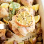 One Pan Lemon Thyme Roasted Chicken Thighs