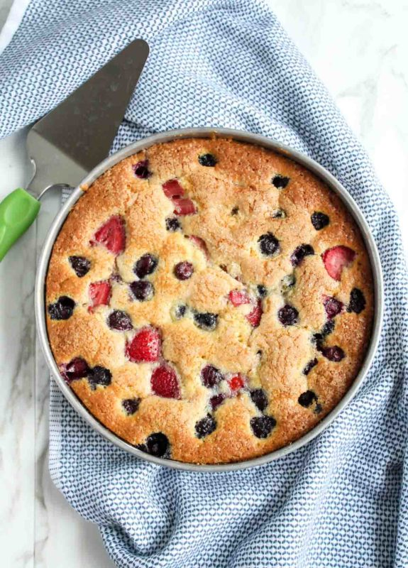 Berry Buttermilk Cake | katiebirdbakes.com