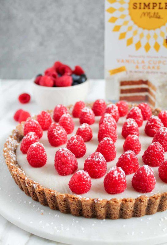 Raspberry Coconut Tart | katiebirdbakes.com