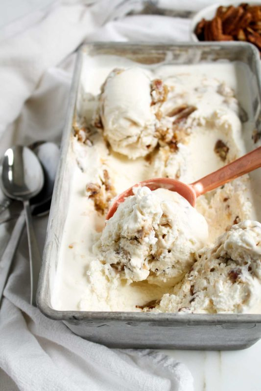 Buttermilk Praline Ice Cream | katiebirdbakes.com