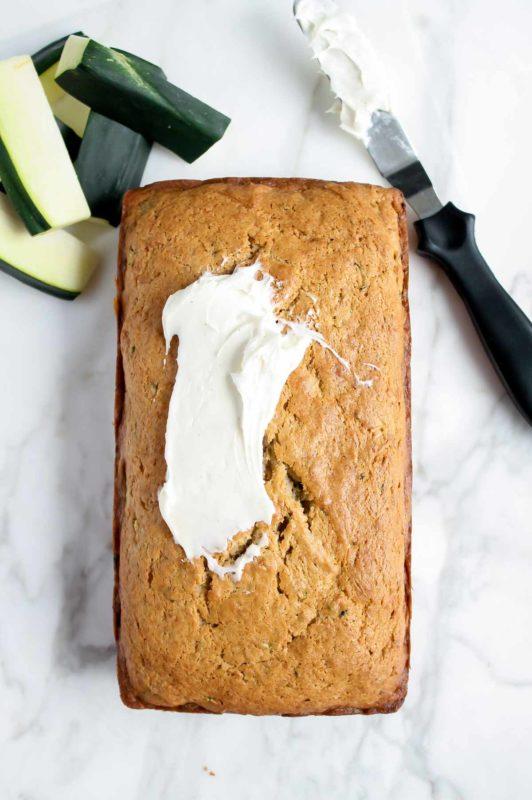 Zucchini Cream Cheese Pound Cake | katiebirdbakes.com