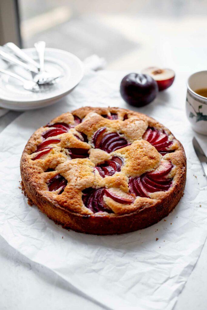 Baked Plum Coffee Cake   katiebirdbakes.com