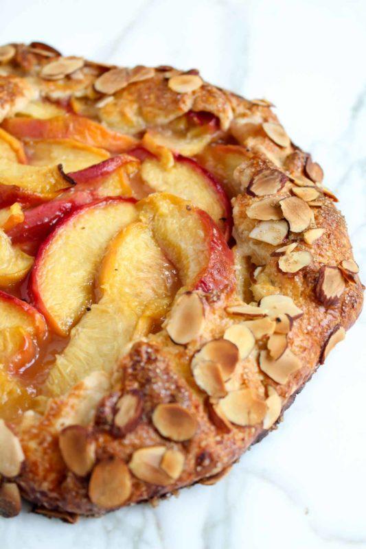 Peach Almond Galette | katiebirdbakes.com