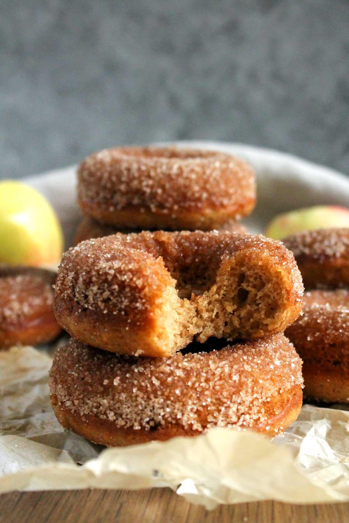 Baked Apple Cider Cake Donuts