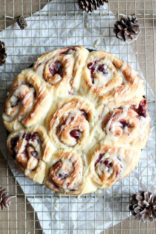 Cranberry Sauce Breakfast Rolls | katiebirdbakes.com