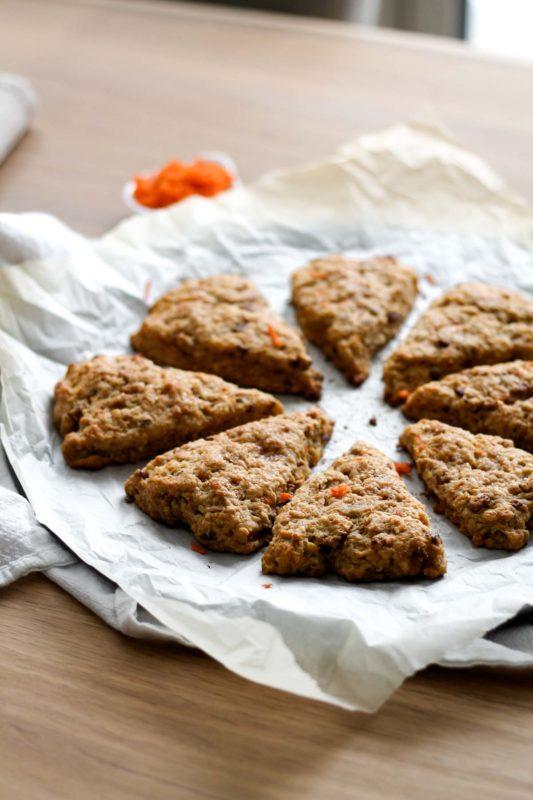 Carrot Cake Scones | katiebirdbakes.com