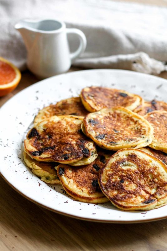 Orange Ricotta Chocolate Chip Pancakes | katiebirdbakes