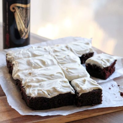 Single Layer Guinness Cake with Irish Cream Frosting