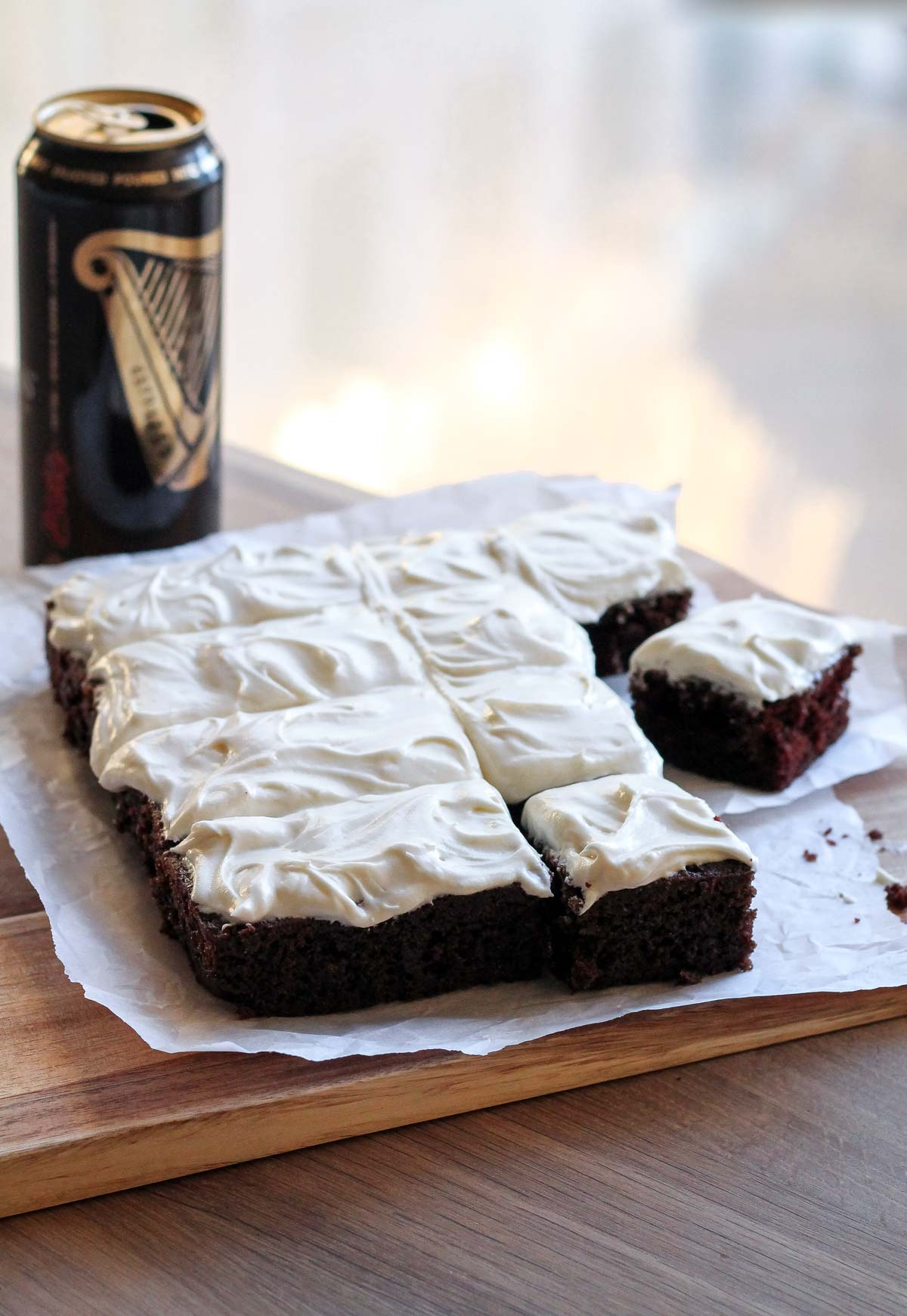Single Layer Guinness Cake with Irish Cream Frosting - Katiebird Bakes