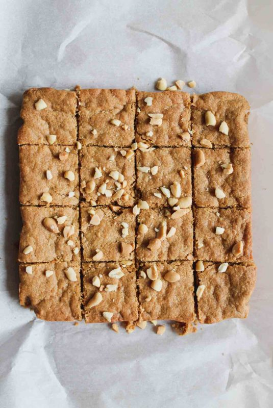 Peanut Butter Blondies | katiebirdbakes