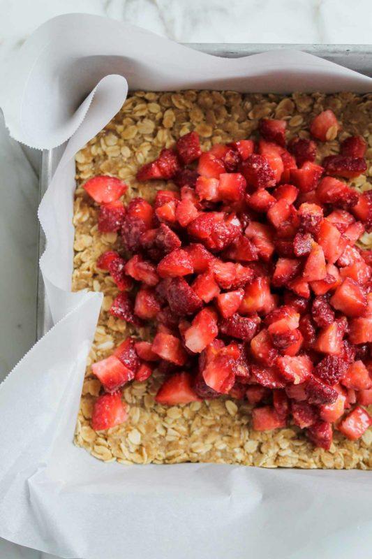 Strawberry Crumble Bars   Katiebird Bakes