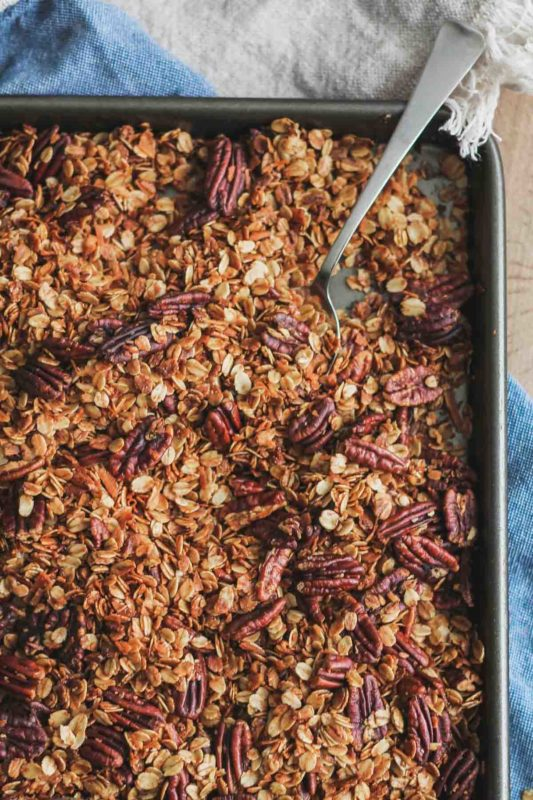 Salted Maple Pecan Granola | katiebirdbakes