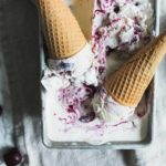 Bourbon Vanilla Roasted Cherry Ice Cream