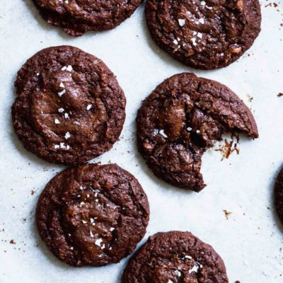 Salted Brownie Cookies | katiebirdbakes