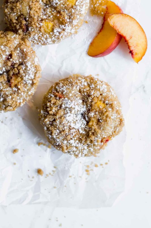 Peach Crumb Baked Donuts