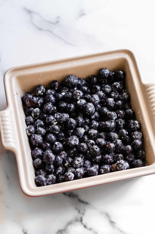 Blueberry Crisp - in this easy dessert, fresh blueberries are the star, topped with a brown sugar oat topping!.