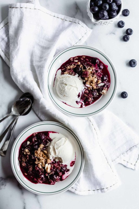 Blueberry Crisp | katiebirdbakes