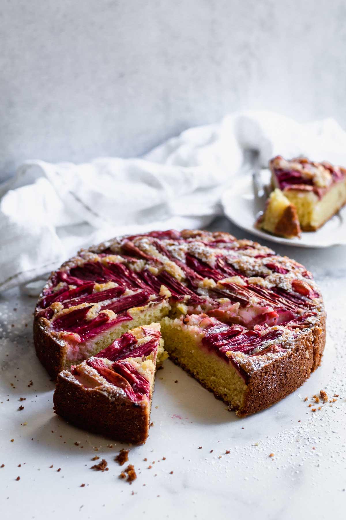 Rhubarb Cake | katiebirdbakes