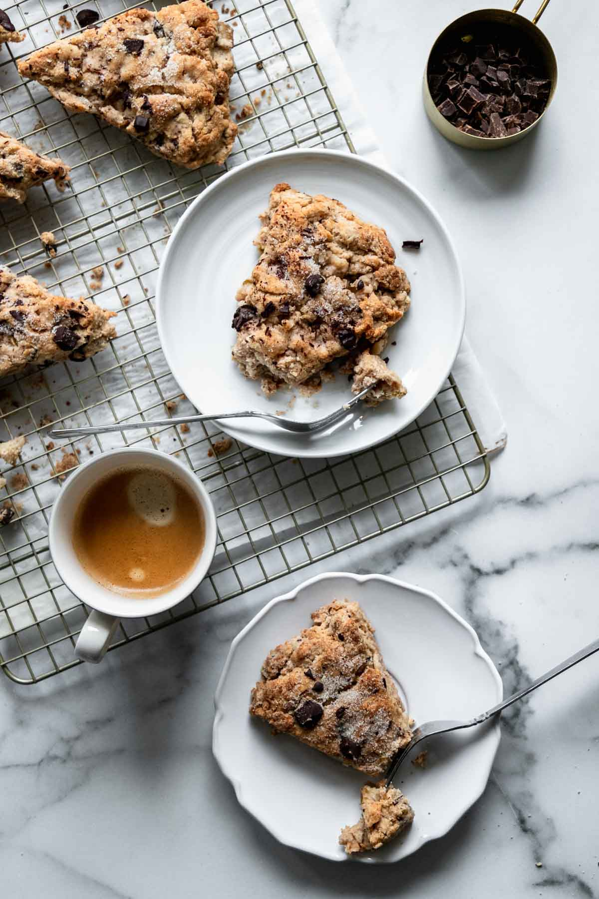 Pear scones with dark chocolate | katiebirdbakes