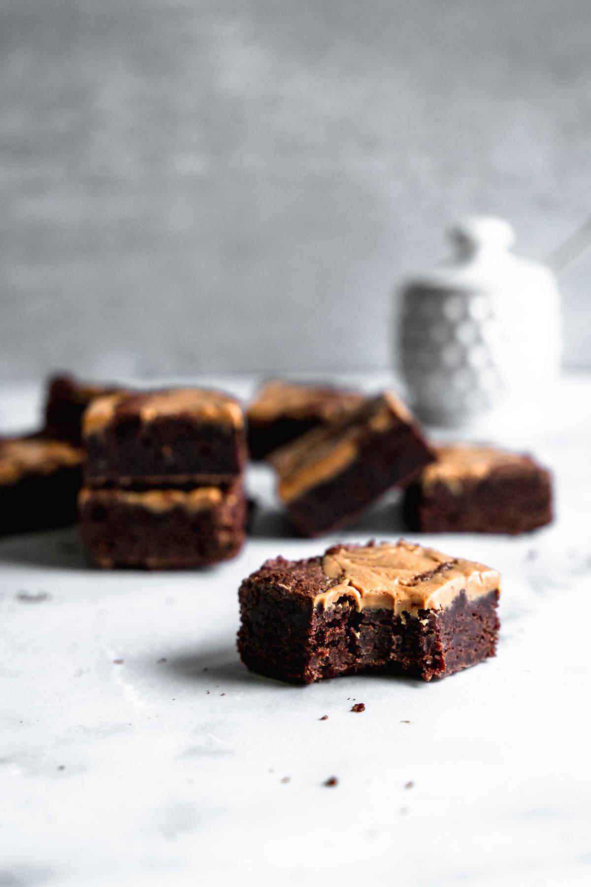 Peanut Butter Swirl Brownies | katiebirdbakes