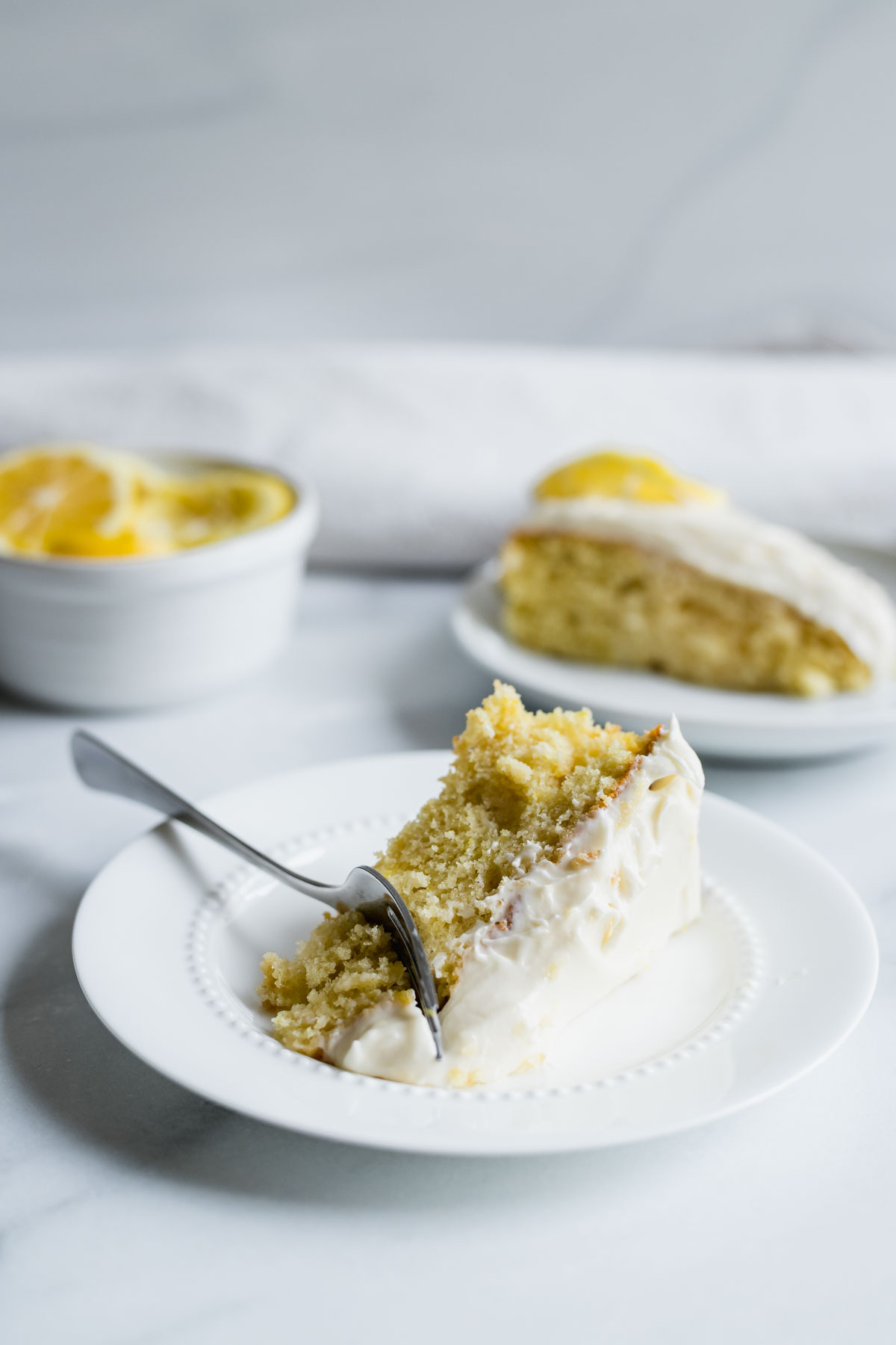 Single Layer Lemon Cake with Lemon Cream Cheese Frosting | katiebirdbakes