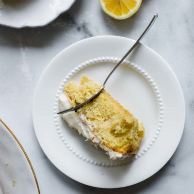Single Layer Lemon Cake with Lemon Cream Cheese Frosting