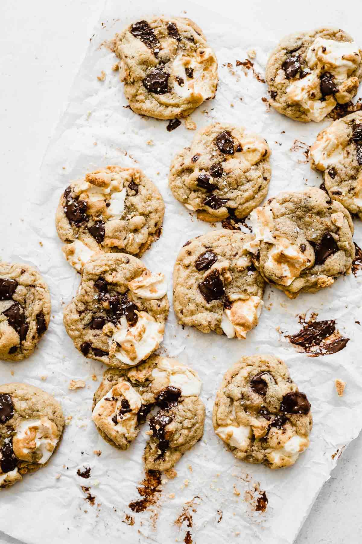S'mores Cookies | katiebirdbakes