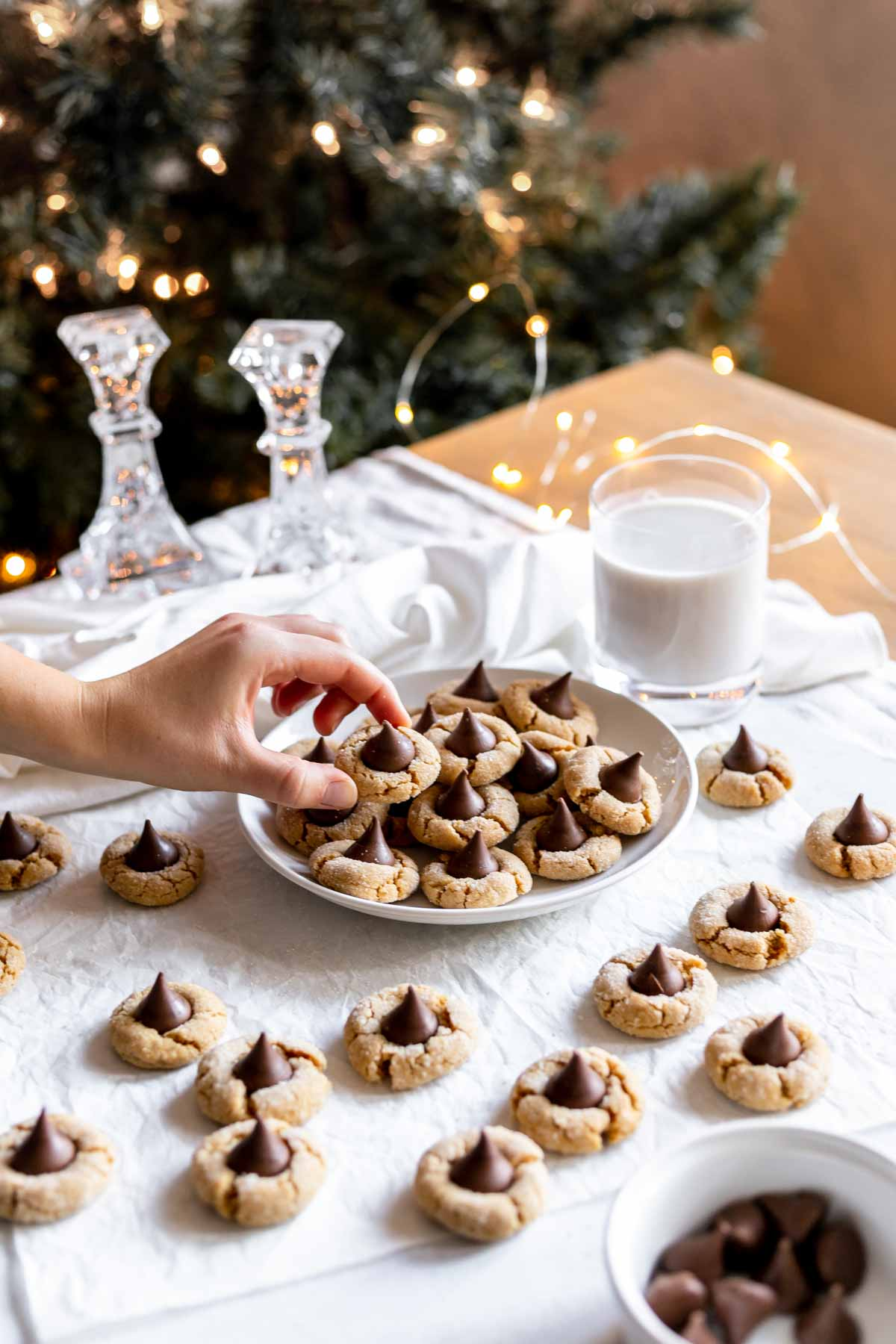 Peanut butter blossoms - Christmas cookies