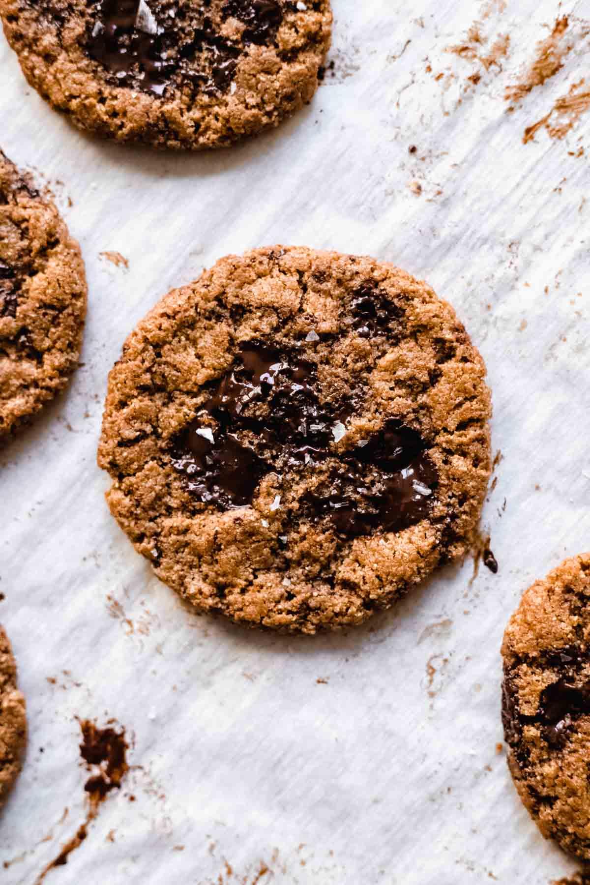 A single flourless almond butter cookie