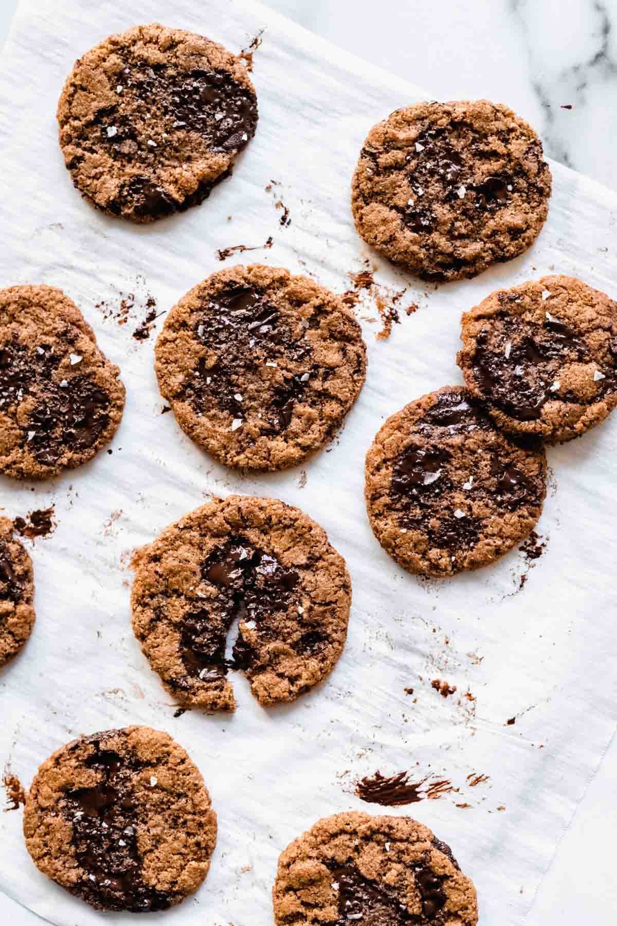 Gluten-free almond butter chocolate chunk cookies
