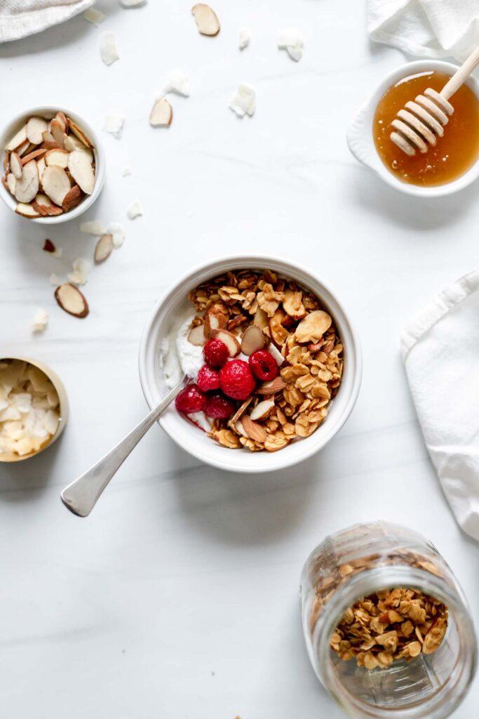 Honey almond granola - small batch recipe!